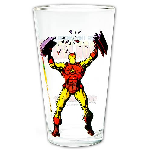 Iron Man Glass Toon Tumbler