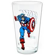 Captain America Glass Toon Tumbler