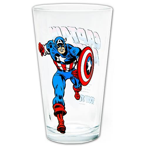 Captain America Toon Tumbler Pint Glass