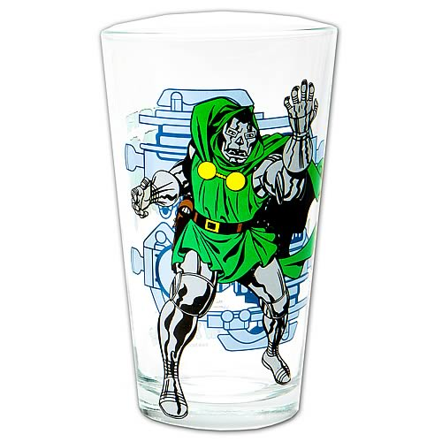 Fantastic Four Dr. Doom Glass Toon Tumbler