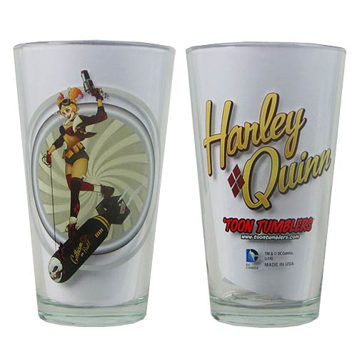 DC Comics Bombshells Harley Quinn Version 1 Pint Glass