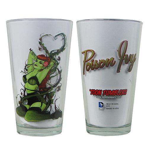 DC Comics Bombshells Poison Ivy Toon Tumbler Pint Glass