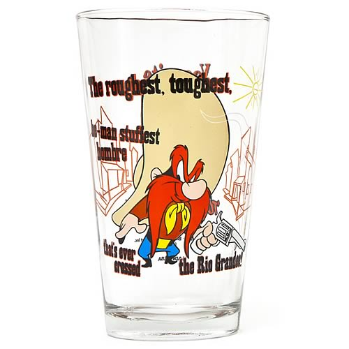 Looney Tunes Yosemite Sam Toon Tumbler Pint Glass