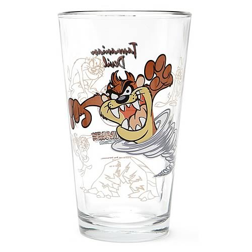 Looney Tunes Tasmanian Devil Toon Tumbler Pint Glass