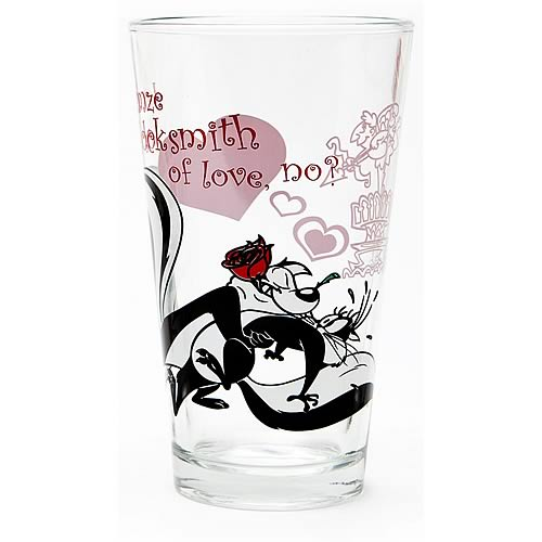 Looney Tunes Pepe Le Pew Toon Tumbler Pint Glass