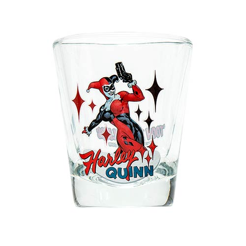 Batman Harley Quinn DC Comics Mini Glass