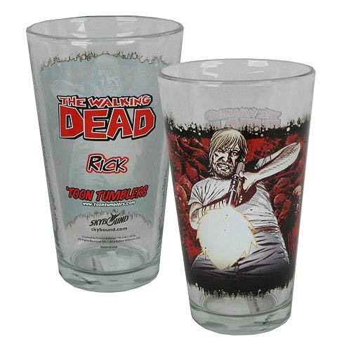The Walking Dead Comic Rick Grimes Toon Tumbler Pint Glass