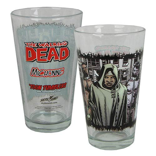 The Walking Dead Comic Michonne Toon Tumbler Pint Glass
