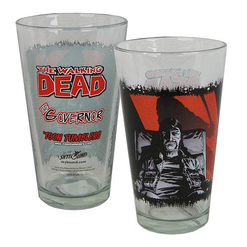 The Walking Dead Comic The Governor Toon Tumbler Pint Glass