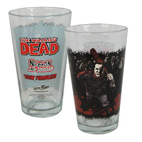 The Walking Dead Negan Toon Tumbler Pint Glass