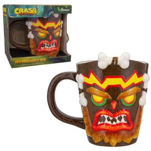 Crash Bandicoot Uka Uka Shaped Mug