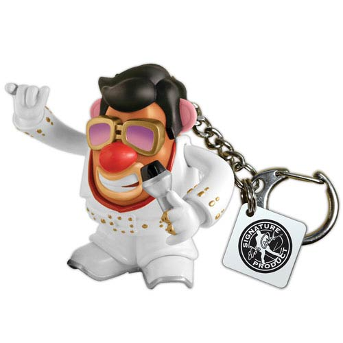 Elvis Presley White Jumpsuit Mr. Potato Head Key Chain