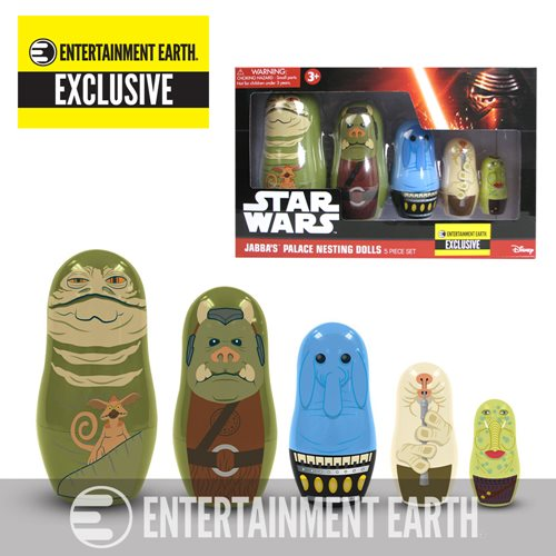 Star Wars Jabba Nesting Dolls Entertainment Earth Exclusive