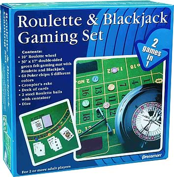 Roulette and Blackjack Gaming Set