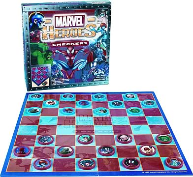 Marvel Heroes Checkers