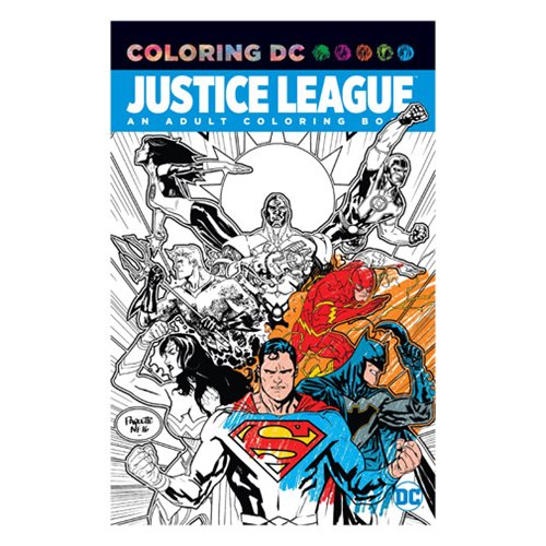 Justice League Adult Coloring Book