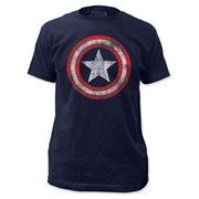 Captain America Distressed Shield T-Shirt