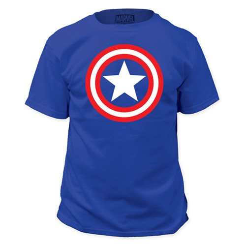 Captain America Shield Blue T-Shirt