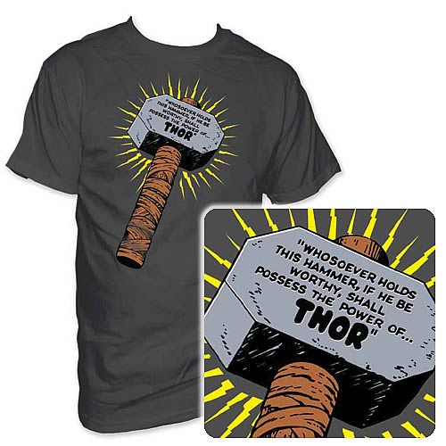 Marvel Thor Hammer Tattoo Thor hammer t-shirtThor Hammer Marvel Tattoo
