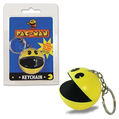 Home play visions pac man key chains pac man sound key chain