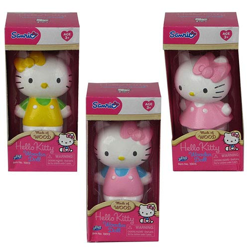 Hello Kitty 3-Inch Wood Figure Case