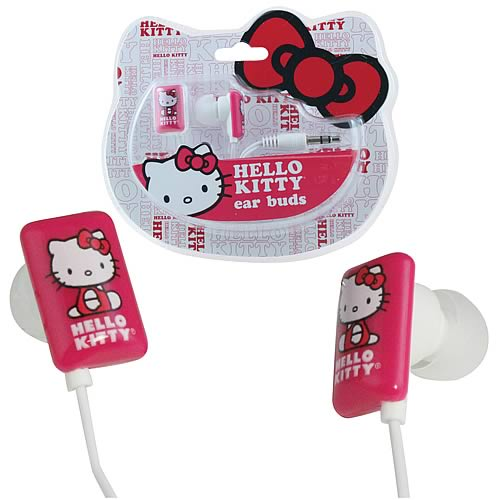 Hello Kitty Ear Bud Headphones