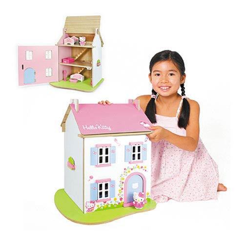 Hello Kitty Cupcake Cottage Wooden Playset