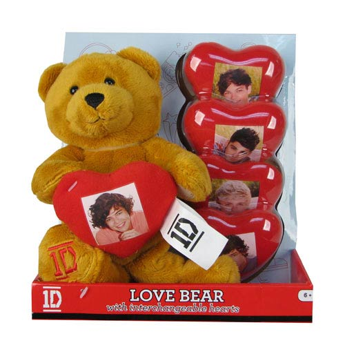 1D 9-Inch Bear with Detachable Heart Plush