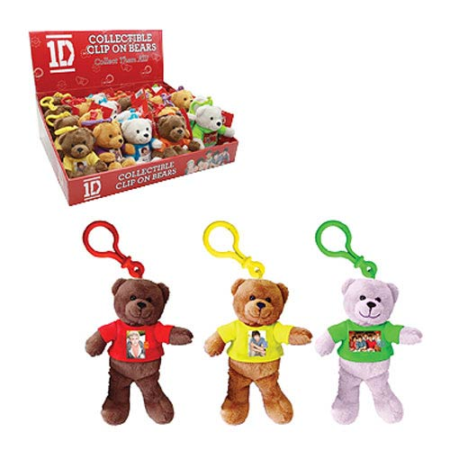 1D Clip-On 6-Inch Plush Bear 4-Pack