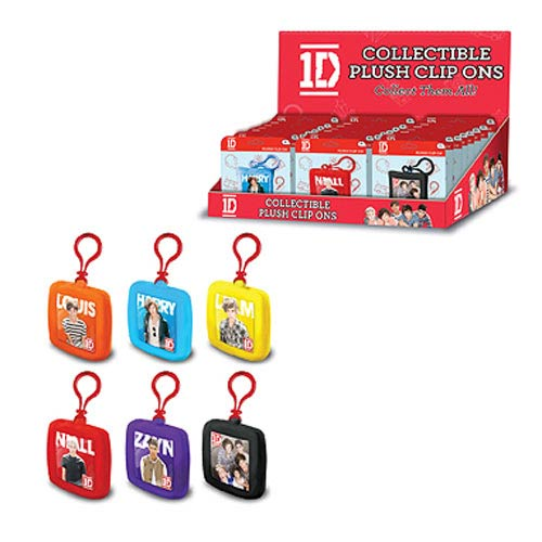 1D Mini Clip-On Plush Key Chain 6-Pack