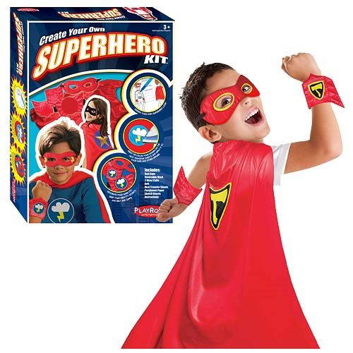 Create Your Own Superhero Kit Red Cape Version
