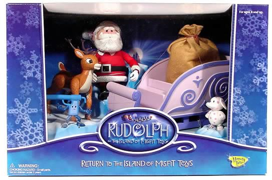 Santa's Sleigh and Rudolph