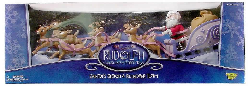 Santa Sleigh Scene Diorama