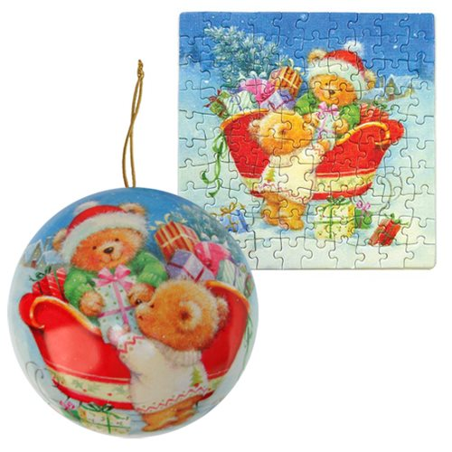 Holiday Ornament Bears Puzzle