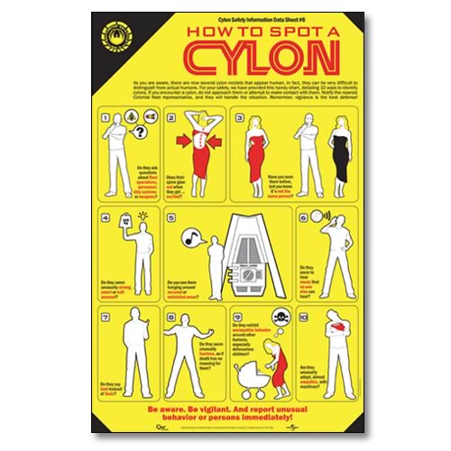 Battlestar Galactica How To Spot A Cylon Poster
