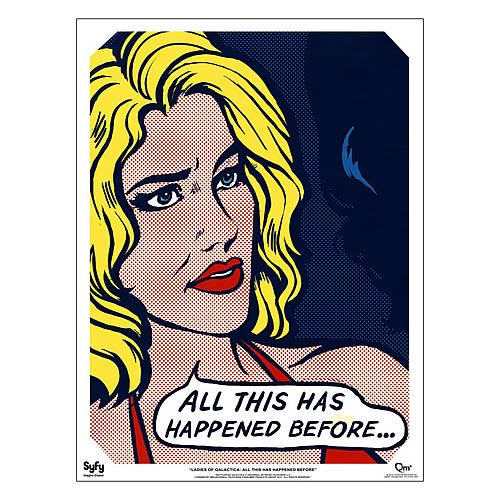 Battlestar Galactica Ladies Pop Art Six Fine Art Print