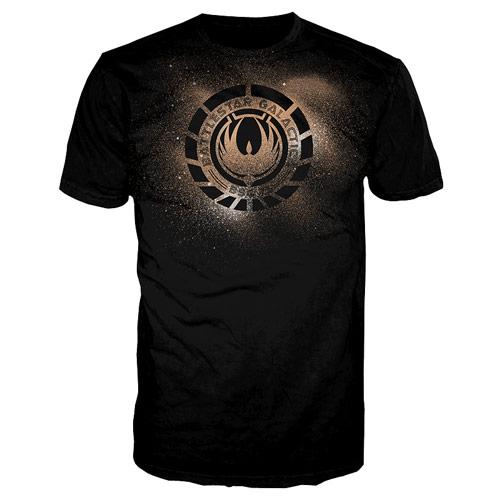 Battlestar Galactica Phoenix Crest Black T-Shirt