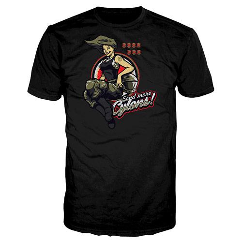 Battlestar Galactica Send More Cylons Black T-Shirt