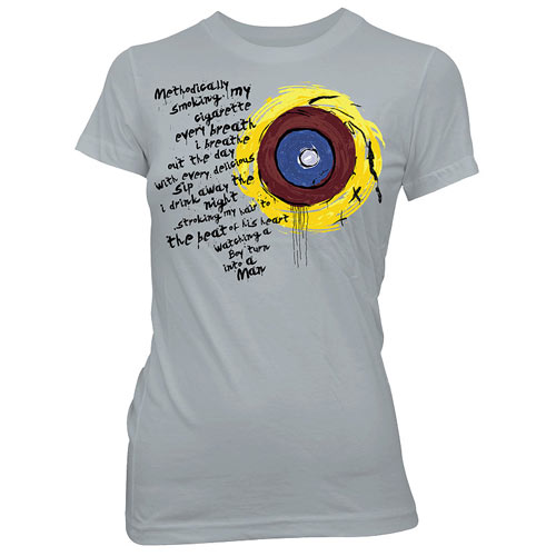Battlestar Galactica Eye of Jupiter Gray Juniors T-Shirt