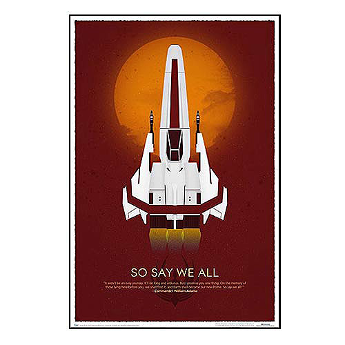 Battlestar Galactica 10th Anniversary Art Print, Not Mint