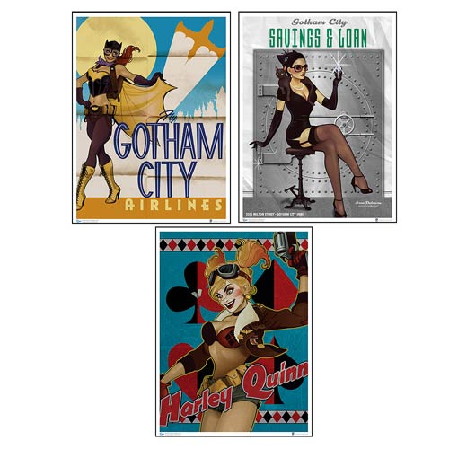 Batman DC Bombshells Gotham Art Print Set
