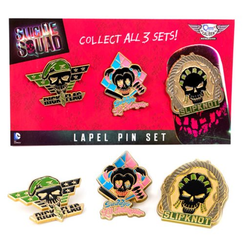 Suicide Squad Lapel Pin Set 3