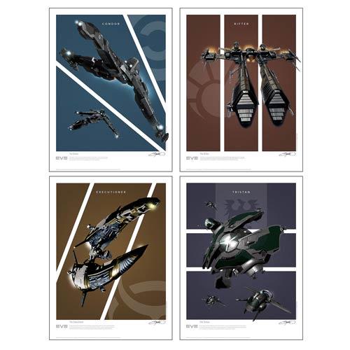 EVE Online Battlecruisers Art Print 4-Pack Set 2: Frigates