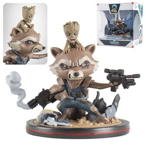 Guardians of the Galaxy Vol. 2 Rocket and Groot Q-Fig Figure