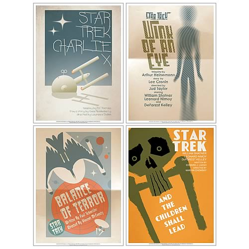 Star Trek The Original Series Fine Art Poster Set 2