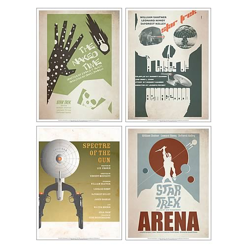 Star Trek The Original Series Fine Art Posters Set 5