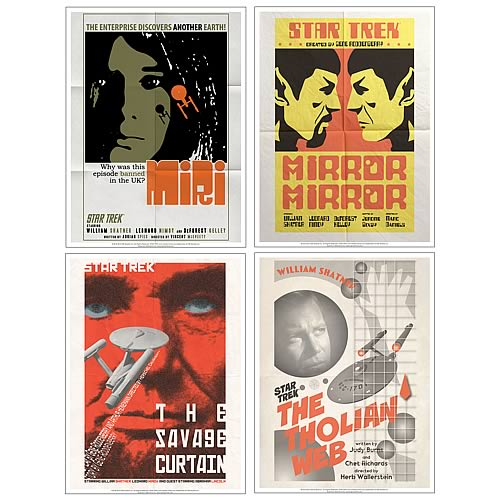 Star Trek The Original Series Fine Art Poster Set 6