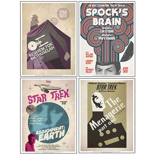 Star Trek The Original Series Fine Art Poster Set 10