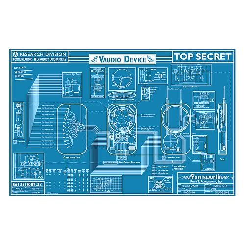 Warehouse 13 Farnsworth Blueprint Replica