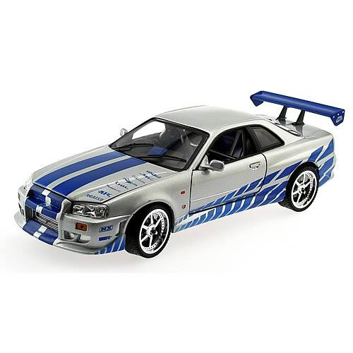 Fast and the Furious 1:18 Scale 1999 Nissan Skyline Car